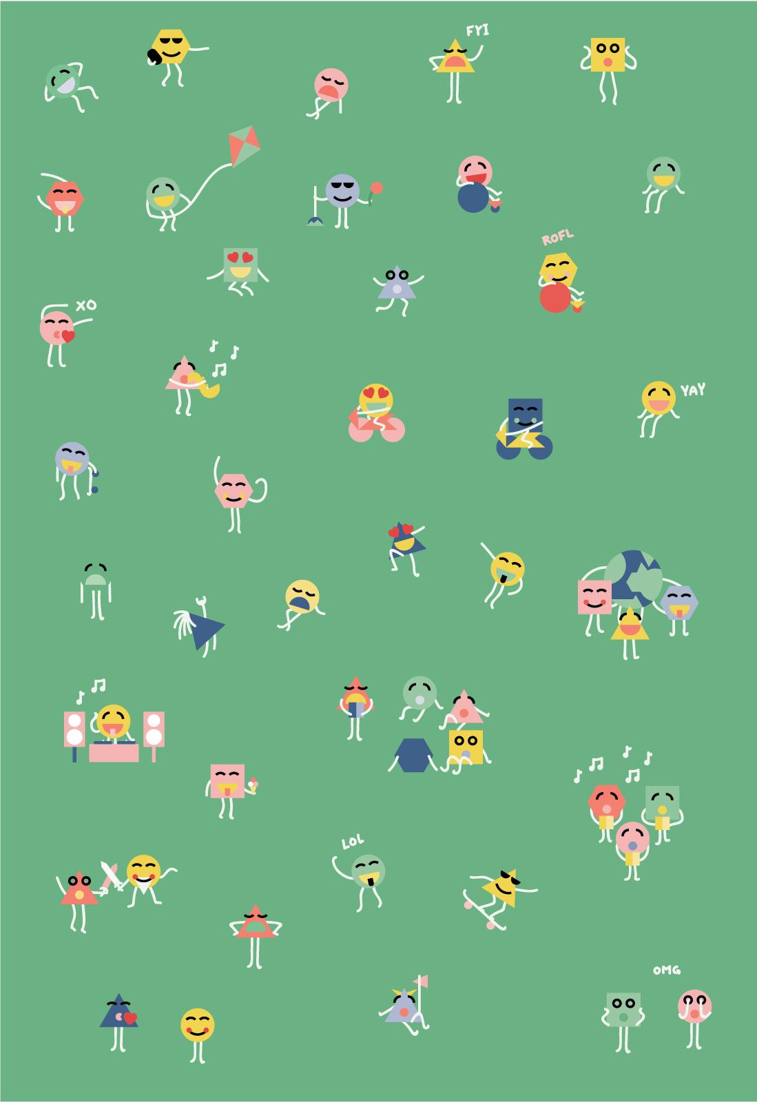 Emojis til Køge Kommune Kulturstrategi
