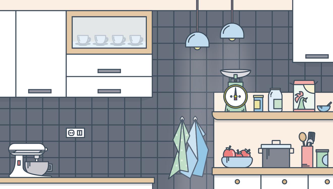 Illustration af Palles køkken
