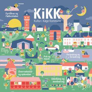 Poster for Køge Kommune - visualiseret kulturstrategi